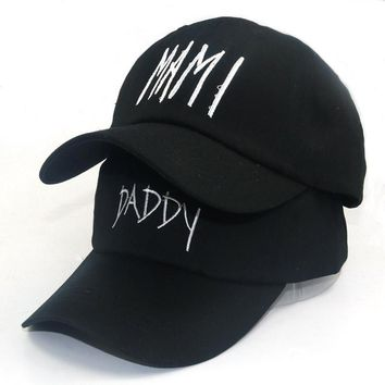 Trendy Winter Jacket new daddy Mami embroidery hats Unstructured adjustable cotton Baseball caps Dad/Mom Couple Hat Cap dad hat  AT_92_12