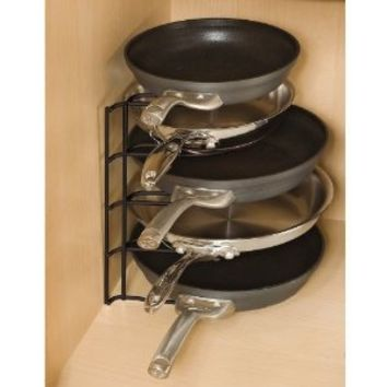 Rubbermaid Pan Organizer Rack, Black