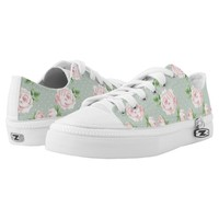 Girly Vintage Roses Pattern Printed Shoes