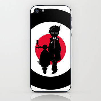 Mod & Retro Scooter Illustration iPhone & iPod Skin by markmurphycreative