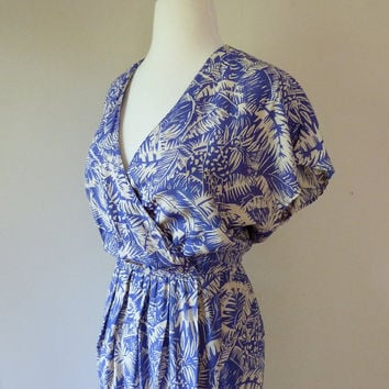 80's Tropical Dress Wrap Sarong Hawaiian by VintageChinchilla