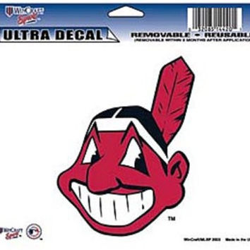 "Cleveland Indians Removable 5""x6"" Car Decal"