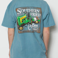Southern Fried Cotton - Youth Green Tractor T-Shirt