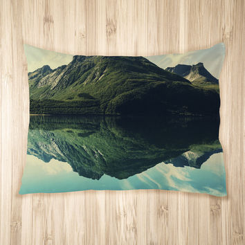 Tranquil Mountain Lake Pet Bed