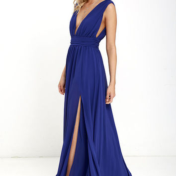 Heavenly Hues Royal Blue Maxi Dress