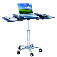 Techni Mobili Folding Table Laptop Cart - Graphite Gray
