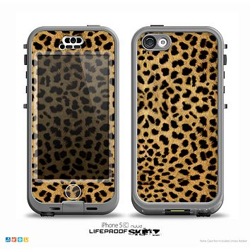 The Orange Cheetah Fur Pattern Skin for the iPhone 5c nüüd LifeProof Case