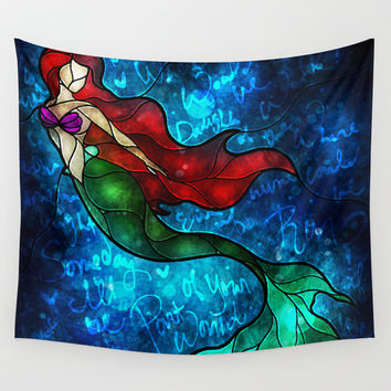 The Mermaids Song Wall Tapestry by Mandie Manzano
