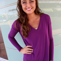 Purple V-Neck Piko
