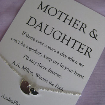 Mom MOTHER Daughter Necklace Mother Of Bride Gift Birthday Gi