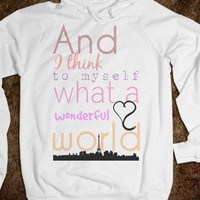 What a Wonderful World Lyric Tee - C's Boutique