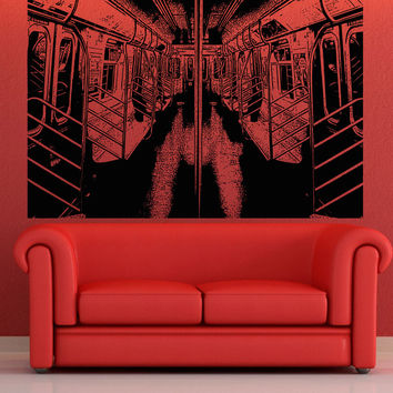 Vinyl Wall Decal Sticker 7 Train Interior #5212