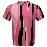 Black and pink Camo abstract Men's Cotton Tee