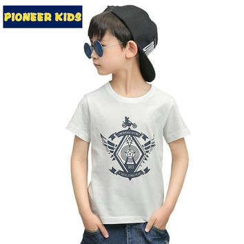 Pioneer Kids 2016 New Rushed Bobo Choses Boys T Shirt Cotton Casual Shirts School Children Fashion Sleeve Pokemon Go Bicycle