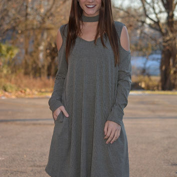 Focused and Fabulous Pocket Dress ~ Olive