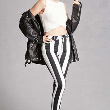 Motel Striped Twill Skinny Pants