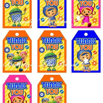Team Umizoomi Favor Tags Team Umizoomi Thank You Tags  Go Gift Favors Birthday Party Decorations Kids Party SuppliesKawaii Pokemon go  AT_89_9