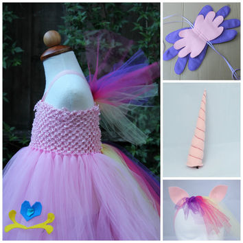 My little pony Cadence Costume - Princess Cadence 4 item Halloween Costume -  Cadence dress - Mi Amore Cadenza - Horn, Wings