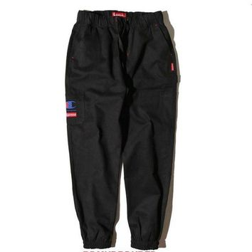 ONETOW Trendsetter Champion X Supreme Women Men Fashion Casual Pants Trousers
