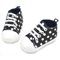 0-24 Month Baby Boy Girls Casual Slip On Laces Shoes First Walk Shoes Prewalker