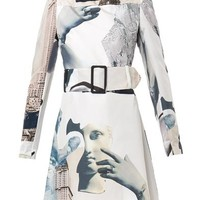 Dada-print Habotai-silk dress