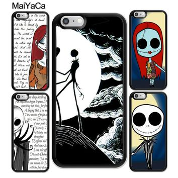 MaiYaCa the nightmare before christmas Best Friends Soft Rubber Phone Cases For iPhone 6 6S Plus 7 8 X 5 5S SE Cover Skin Shell