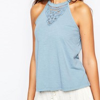 New Look Petite Crochet Vest Top