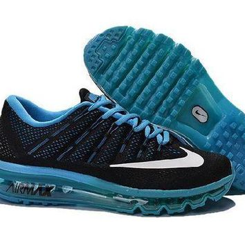 PEAPN Ready Stock Nike Air Max 2016 For Sale Black Blue Online Running Shoes Sport Running Shoes