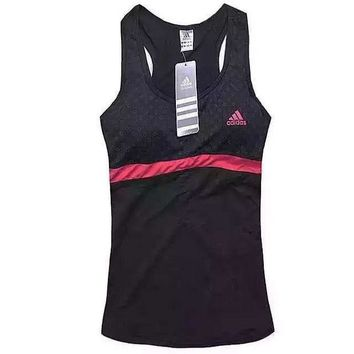Adidas Women Casual Polka Dots Print Yoga Sports Gym Vest Tank Top Cami