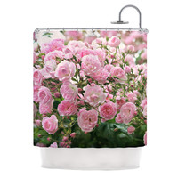 "Sylvia Cook ""The Fairy Rose"" Pink Floral Shower Curtain"