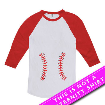 funny pregnancy shirt maternity tops pregnancy clothing baseball shirt maternity gifts expecting mom american apparel unisex