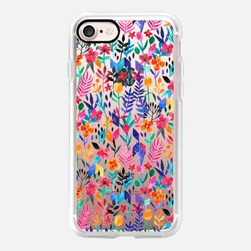 Popping Color Floral Pattern on Translucent iPhone 7 Case by Micklyn Le Feuvre | Casetify