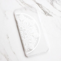 Half Mandala Clear iPhone Case