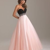 Black pink V-neck Tulle Prom/Ball gown/Formal/Evening dress/SZ 6 8 10 12 14