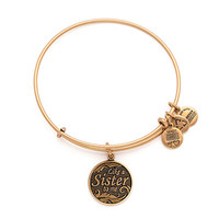 Alex and Ani Like a Sister Bangle Russian Silver