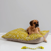 Heather Dutton Festooned Feathered Friends Pet Bed