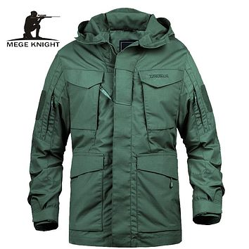 Military Camouflage Male clothing Army Tactical Men's Windbreaker Hooded Field Jacket Outwear