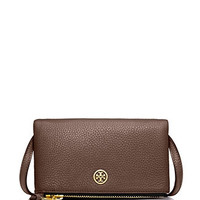 Tory Burch Robinson Leather Mini Fold Over Crossbody