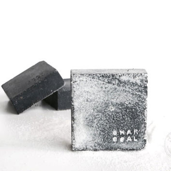 Sea salt spa soap with activated bamboo charcoal| 100% natural and hand made body bar | Ritualist skincare