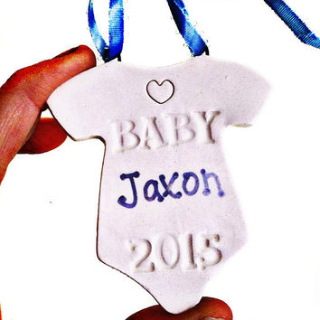 Baby's First Christmas Ornament - Baby Ornament - Personalized Ornament - Gift For Newborn - Gift For New Mom- The Baby Handprint Co