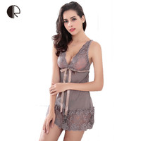 Hot 2016 New Lace Nightgown Sleepwear Dress G-String Sexy Lingerie FREE SHIPPING