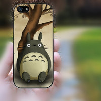 ipod 4 case,ipod 5 case,S3 mini,S4 mini,z10 case,q10 case,iphone 4 case,iphone 4s case,cute iphone 4 case--Totoro on tree,in plastic.