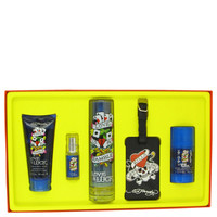 Gift Set -- 3.4 oz Eau De Toilette Spray + 3 oz Hair & Body Wash + 2.75 oz Deodorant Stick + .25 oz Mini EDT Spray + Luggage Tag
