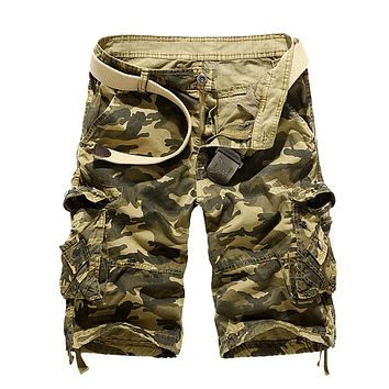 Camouflage Loose Cargo Shorts Men Cool 2019 Summer Military Camo Short Pants Homme Cargo Shorts 29-40