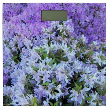 Rhododendron Bouquet Floral Bathroom Scale