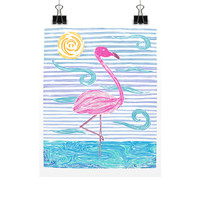 Pink Flamingo Art Print