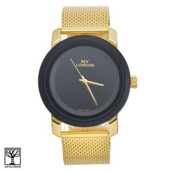 Jewelry Kay style Men's Women's Luxury Fashion 14K Gold Plated Metal Mesh Band Watches WM 15095 G