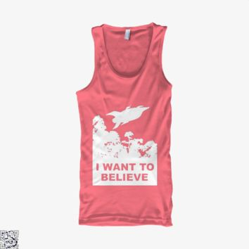 I Want To Believe Planet Express, The Simpsons Tank Top