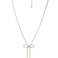 FOREVER 21 Ribbon Chain Necklace Antic Gold One