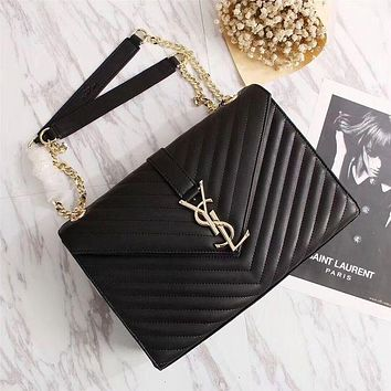 YSL 2018's latest trendy women's leather shoulder bag F